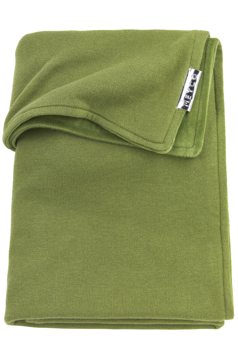 Wiegdeken Velvet Knit Basic - Avocado - 75x100cm