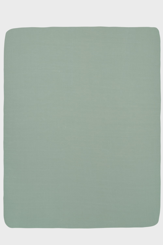 Jersey Hoeslaken Boxmatras - Stone Green - 75x95cm