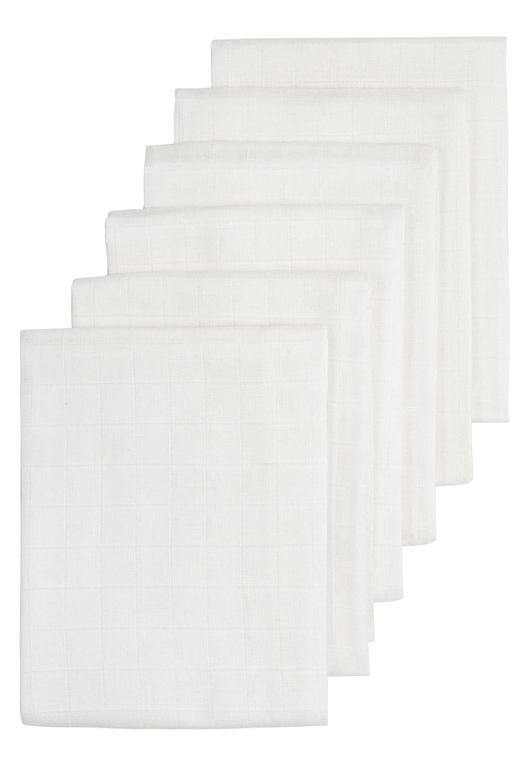 Biologische Musseline Mullwindeln 6-pack - Weiß - 70x70cm