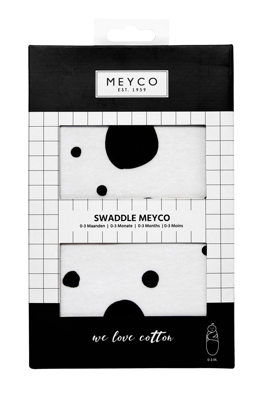 SwaddleMeyco Dots - Zwart - 0-3 Maand