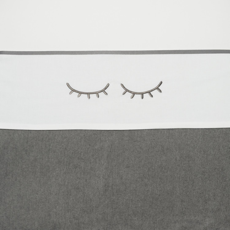 Wieglaken Sleepy Eyes - Grijs - 75x100cm