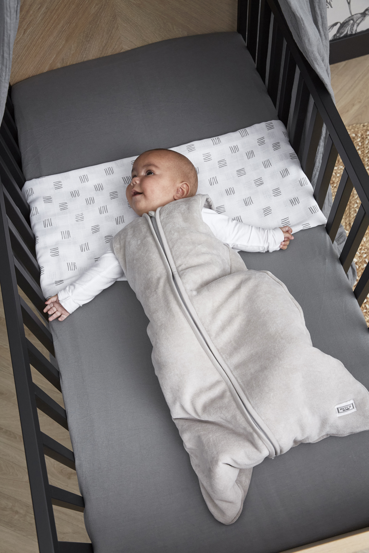 Babyslaapzak gevoerd Velvet - Lichtgrijs - 110cm