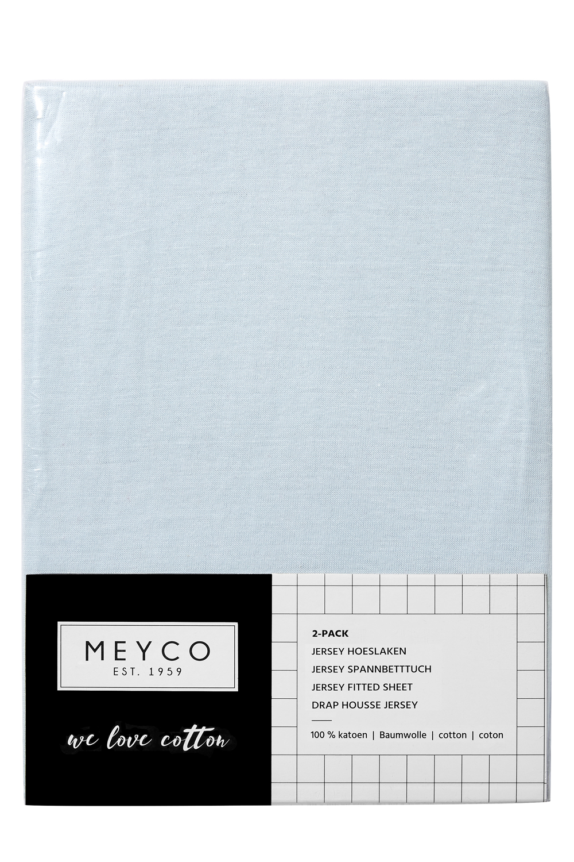 Jersey Hoeslaken 2-Pack - Lichtblauw - 60x120cm