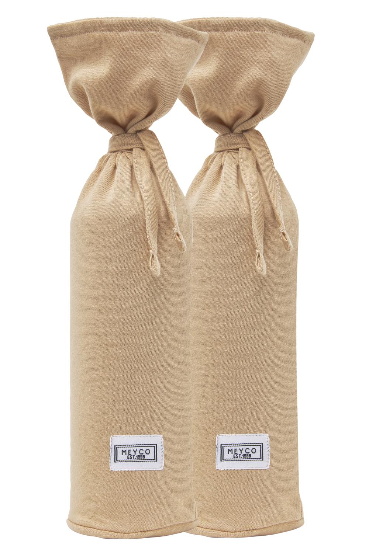 Wärmflaschenbezug 2-Pack Basic Jersey - Warm Sand - 13xh35cm