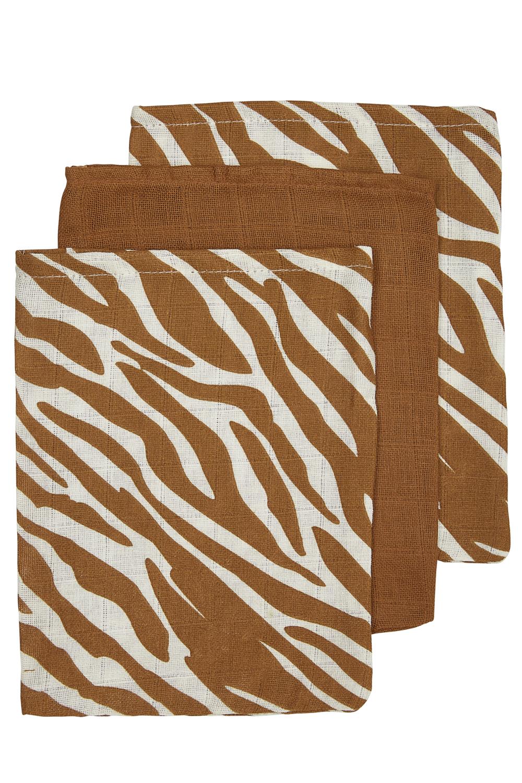 Hydrofiele Washandjes 3-Pack Zebra- Zebra/Camel/Zebra - 20x17cm