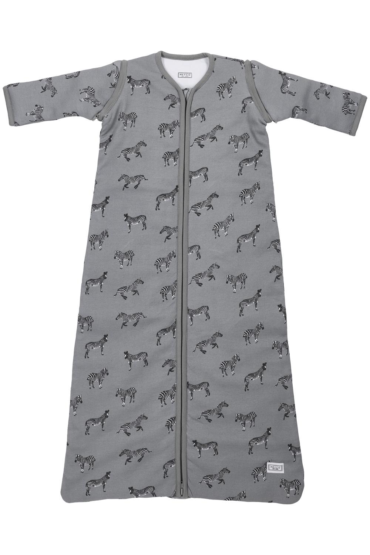 Schlafsack Abnehmbare Ärmel Gefüttert Zebra Animal - Grau - 70cm