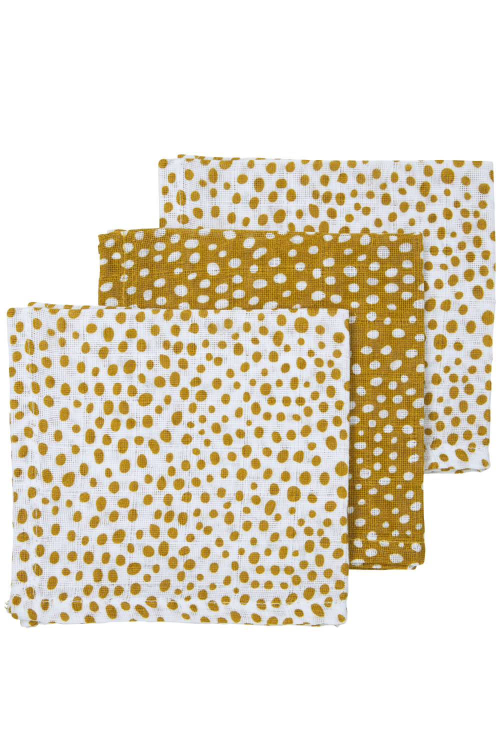 Hydrofiele Monddoekjes 3-Pack Cheetah - Honey Gold - 30x30cm