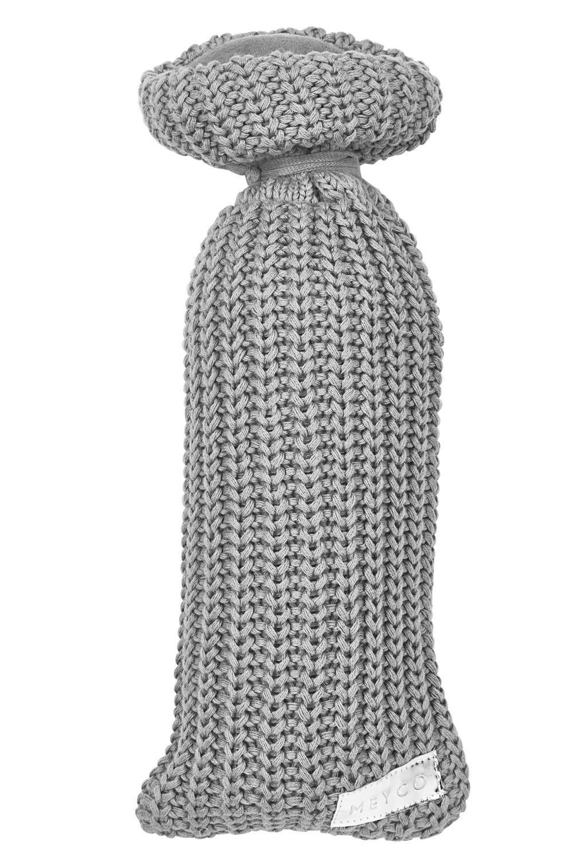 Wärmflaschenbezug Herringbone - Grau - 13xh35cm