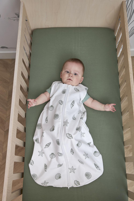 Baby Sleeping Bag Shells Round - Forest Green - 70cm