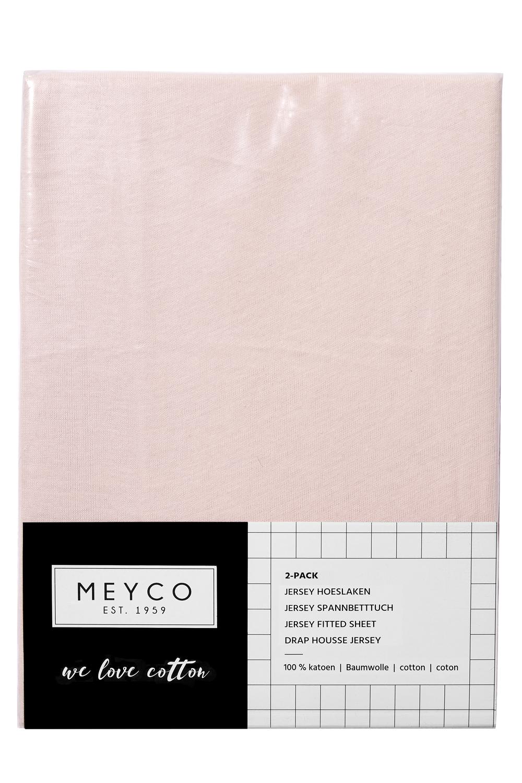 Jersey Hoeslaken 2-Pack - Lichtroze - 70x140/150cm