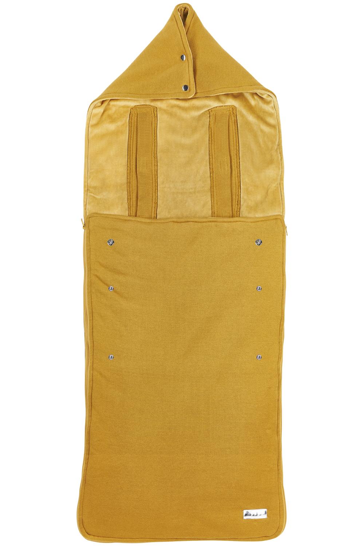 Pushchair Footmuff Knit Basic - Honey Gold