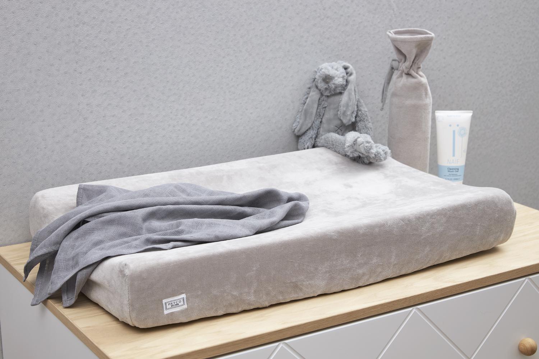 Aankleedkussenhoes Velvet - Lichtgrijs - 50x70cm