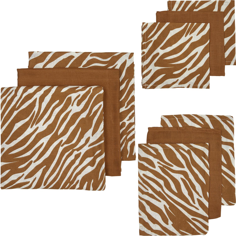 Hydrofiel Starterset 9-delig Zebra/Uni - Camel