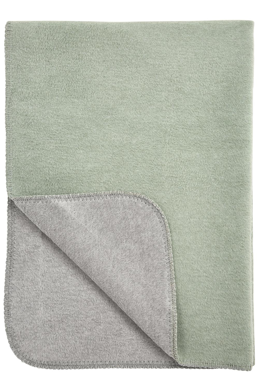 Wiegdeken Double Face - Stone Green/Grijs - 75x100cm