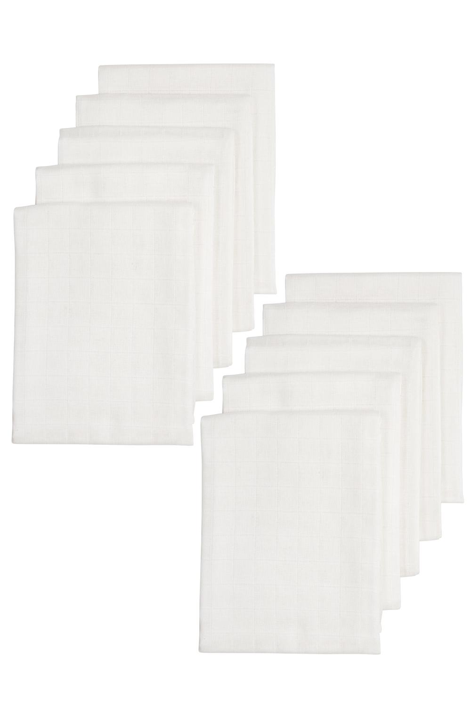 Biologische Musseline Mullwindeln 10-pack - Weiß - 80x80cm