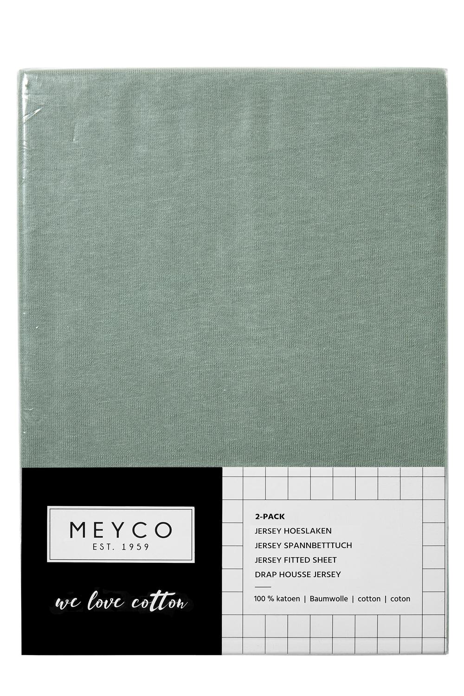 Jersey Hoeslaken 2-Pack - Stone Green - 70x140/150cm