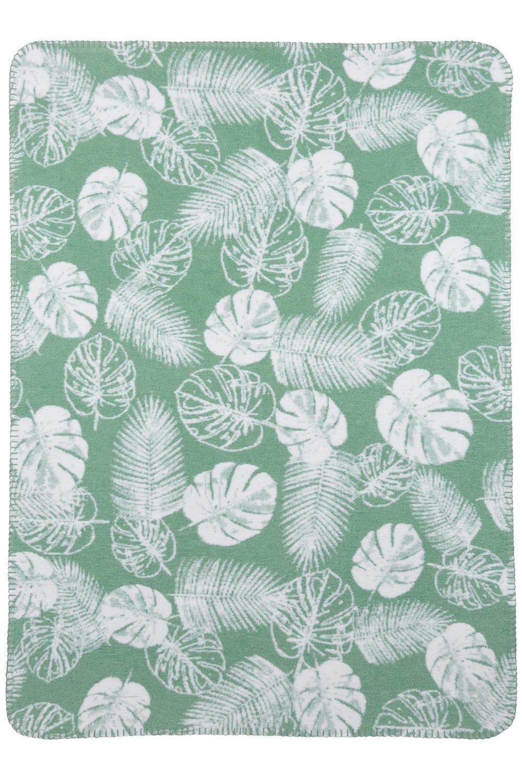 Wiegdeken Tropical Leaves - Groen - 75x100cm