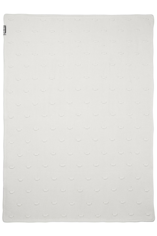 Wiegdeken Velvet Knots - Offwhite - 75x100cm