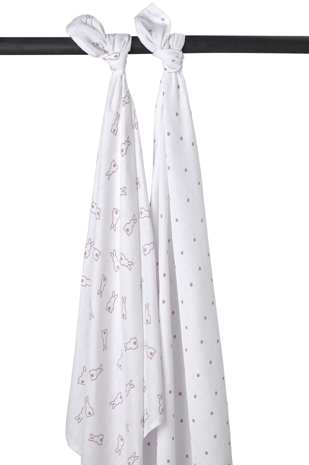 Meyco X Mrs. Keizer 2-Pack Swaddle Rabbit - Lilac
