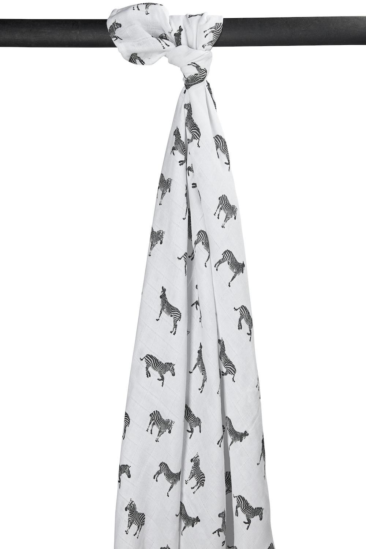 Hydrofiele Swaddle XL Zebra Animal - Zwart - 140x200cm