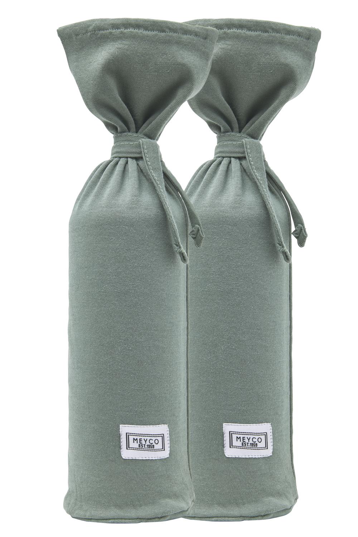 Wärmflaschenbezug 2-Pack Basic Jersey - Forest Green - 13xh35cm