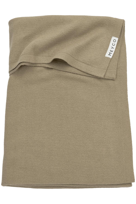 Babydecke groß Knit Basic - Taupe - 100x150cm