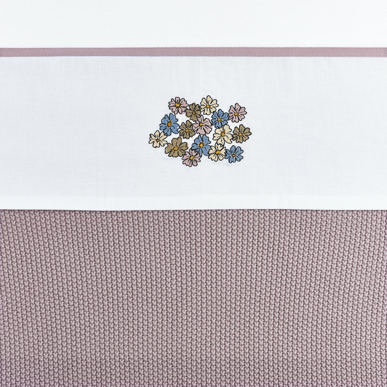 Ledikantlaken Vintage Flower - Lilac - 100x150cm