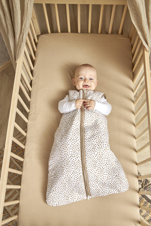 Babyslaapzak Gevoerd Cheetah - Taupe - 90cm