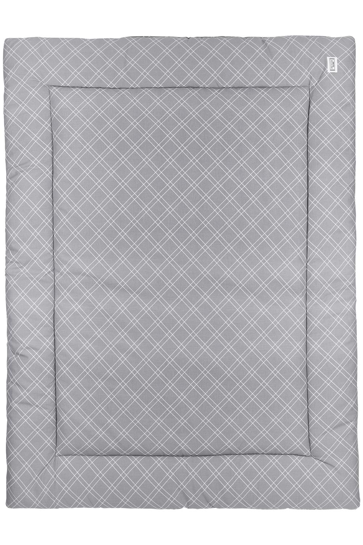 Boxkleed Double Diamond - Grijs - 80x100cm
