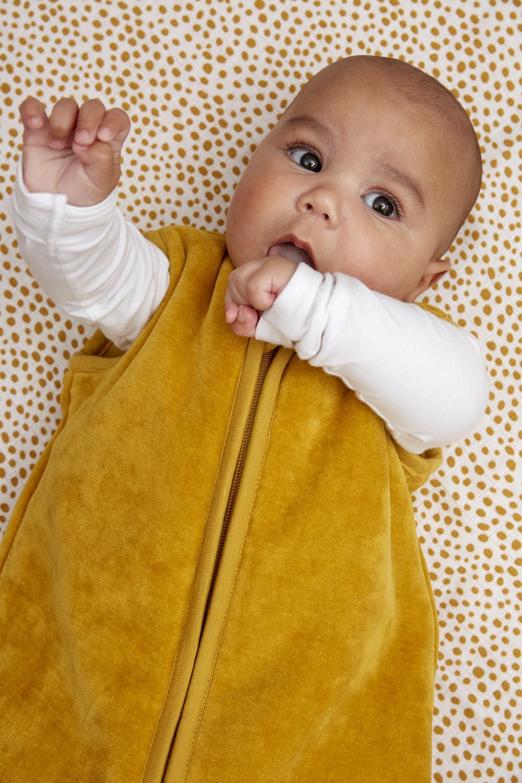 Babyslaapzak gevoerd Velvet - Honey Gold - 70cm