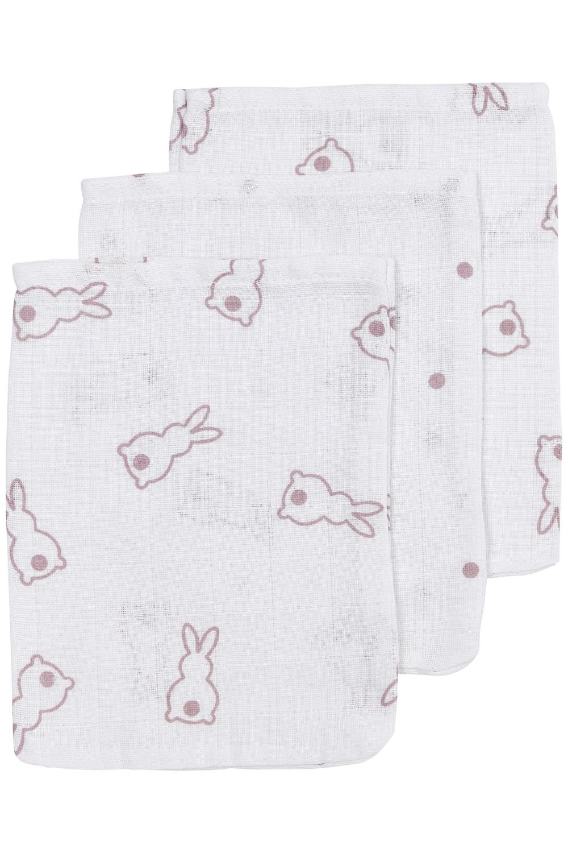 Meyco X Mrs. Keizer 3-Pack Waschhandschuhe Rabbit - Lilac