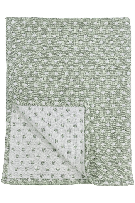 Wiegdeken Little Dots - Forest Green - 75x100cm