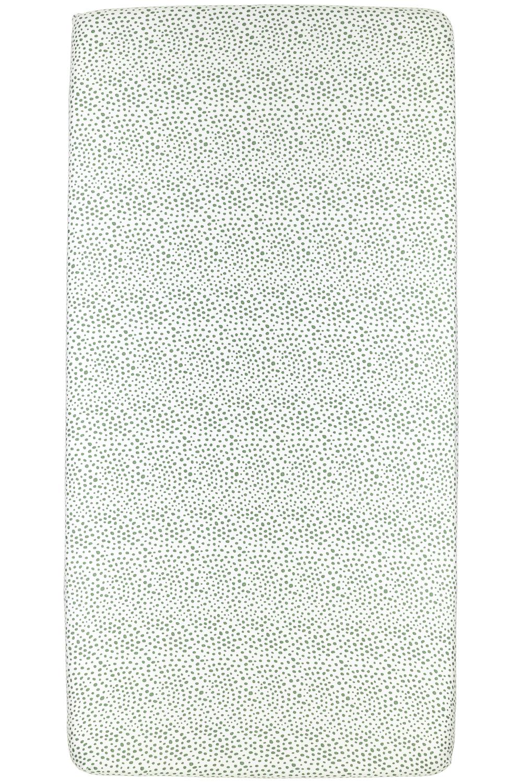 Jersey Hoeslaken Cheetah - Forest Green - 60x120cm