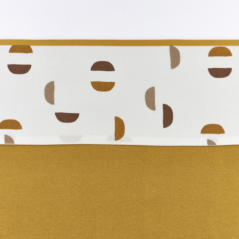 Bettlaken klein Shapes - Honey Gold - 75x100cm