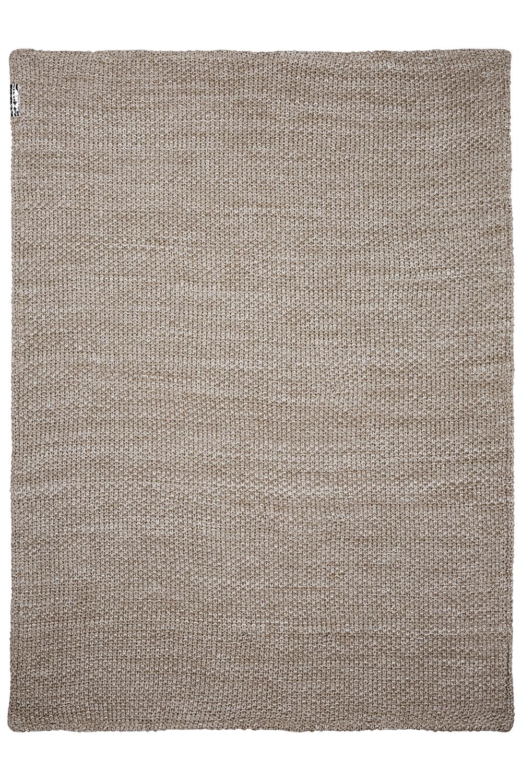 Ledikantdeken Velvet Relief Mixed - Zand - 100x150cm