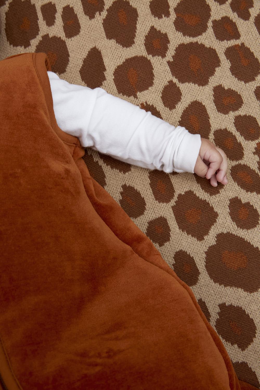 Babyslaapzak gevoerd Velvet - Camel - 70cm