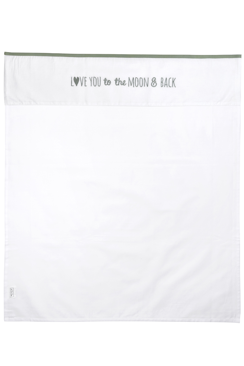 Wieglaken Love You To The Moon & Back - Forest Green - 75x100cm