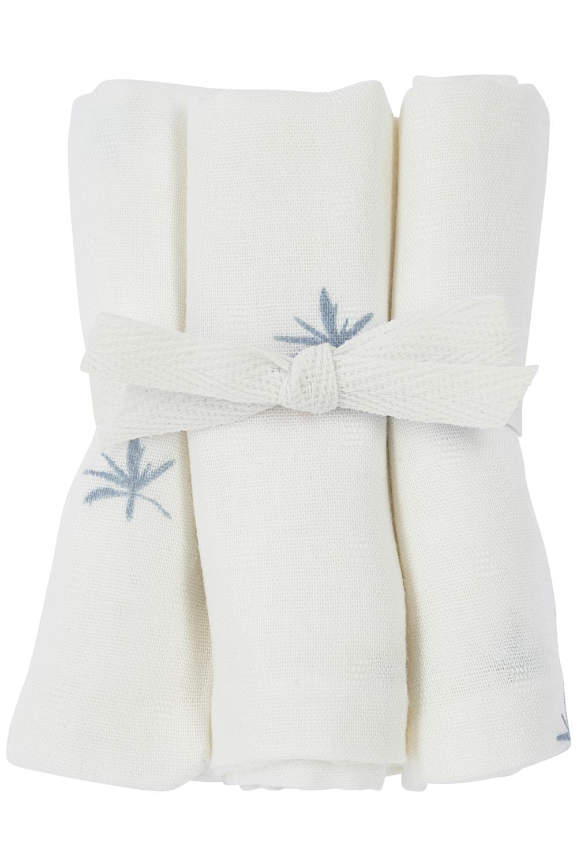 Meyco X Mrs. Keizer 3-pack Bamboe Monddoekjes Ibiza - Denim - 30x30 cm