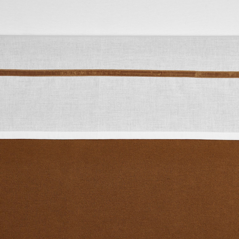 Ledikantlaken Bies Velvet - Camel - 100x150cm
