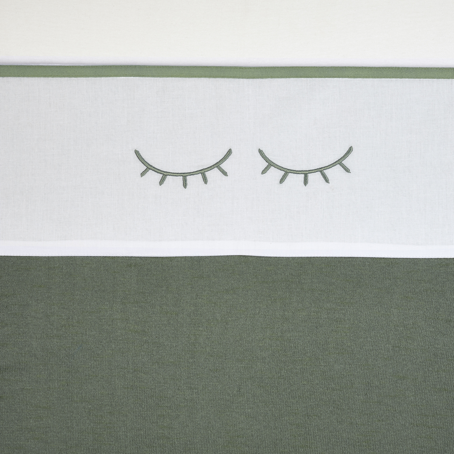 Wieglaken Sleepy Eyes - Forest Green - 75x100cm