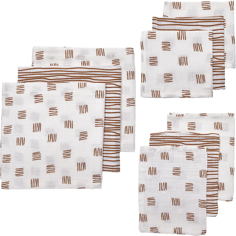 Hydrofiel Starterset 9-delig Block Stripe - Camel