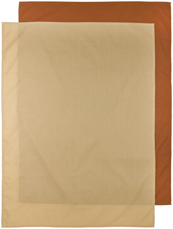 Bettlaken groß 2-Pack Uni - Camel/Warm Sand - 100x150cm