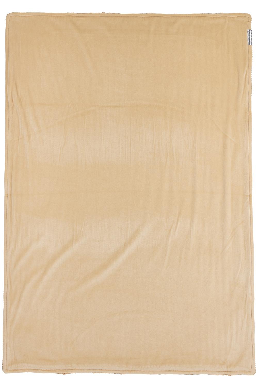 Ledikantdeken Velvet Herringbone - Warm Sand - 100x150cm