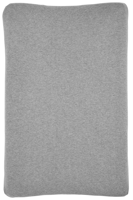 Aankleedkussenhoes Knit Basic - Grijs Melange - 50x70cm
