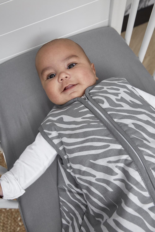 Babyslaapzak Gevoerd Zebra - Grijs - 110cm