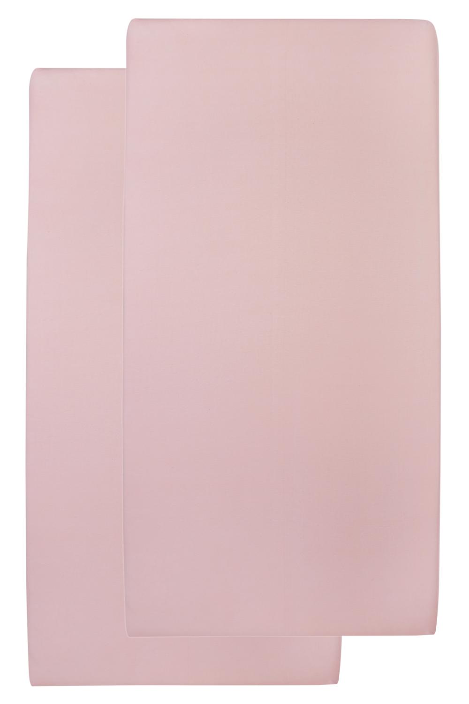 Jersey Hoeslaken 2-Pack - Oudroze - 60x120cm
