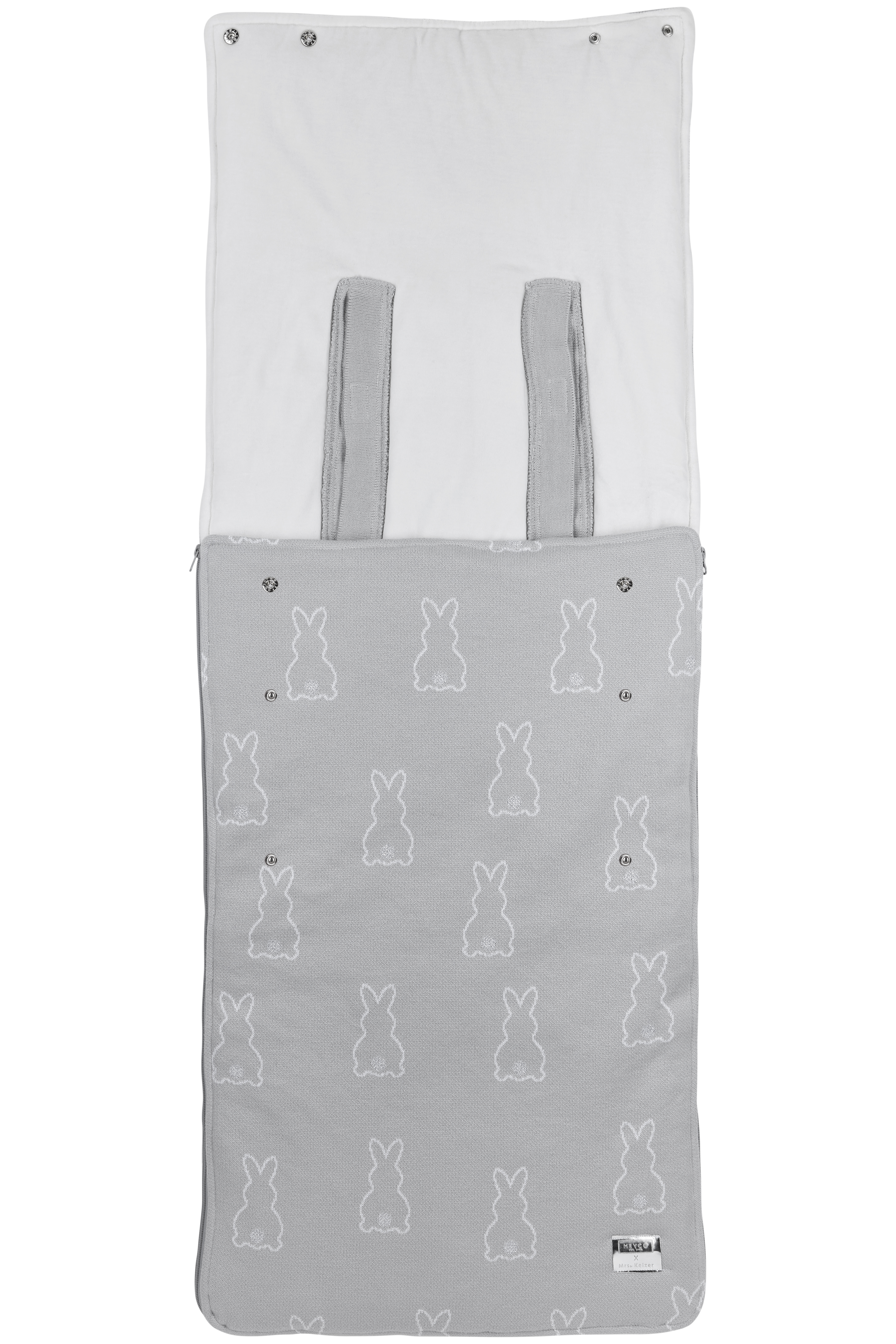 Meyco X Mrs. Keizer Buggy Voetenzak Rabbit - Silver