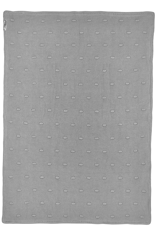 Ledikantdeken Velvet Knots - Grijs - 100x150cm
