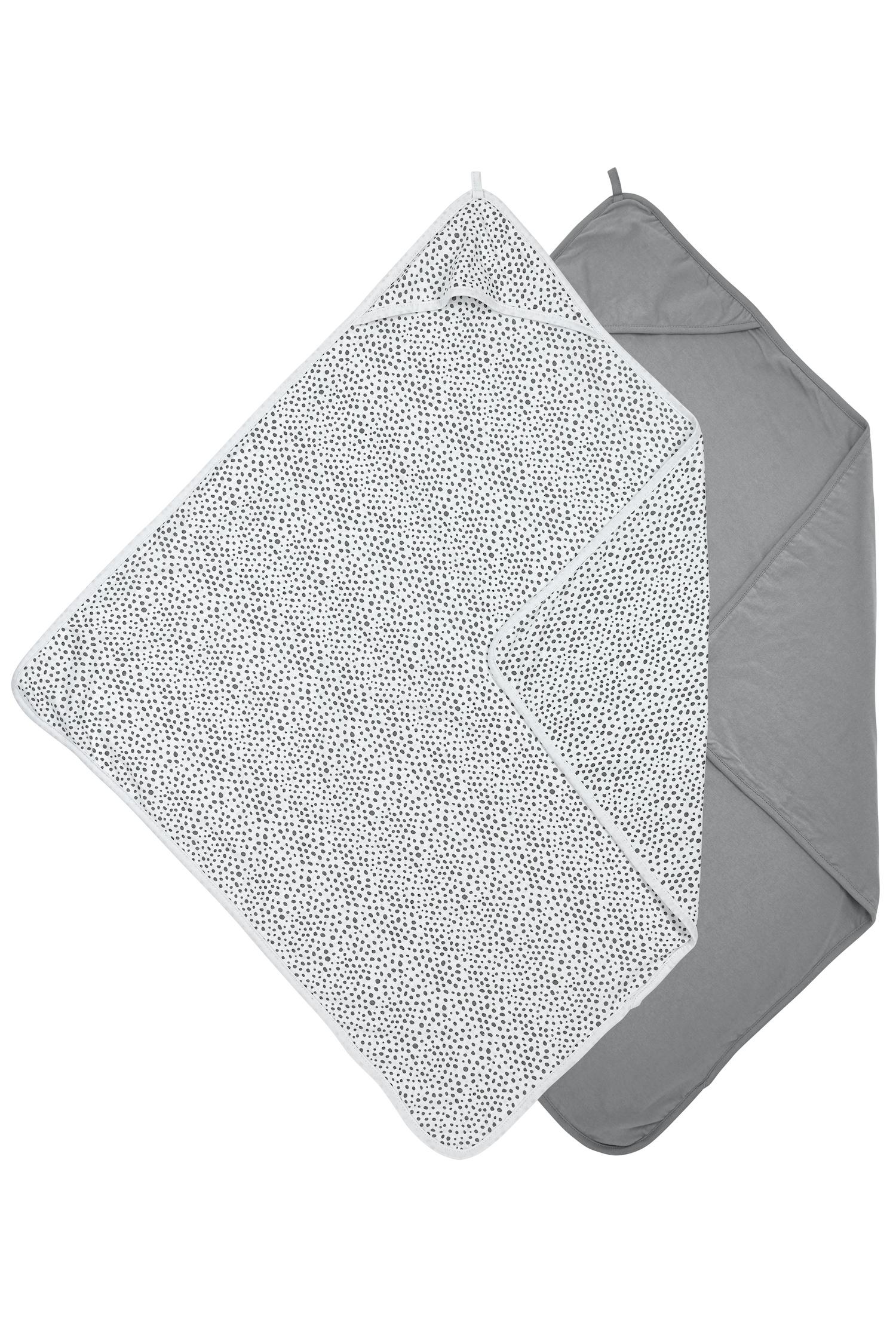 Kapuzentuch Basic Jersey/Cheetah 2-pack - Grau - 80x80cm