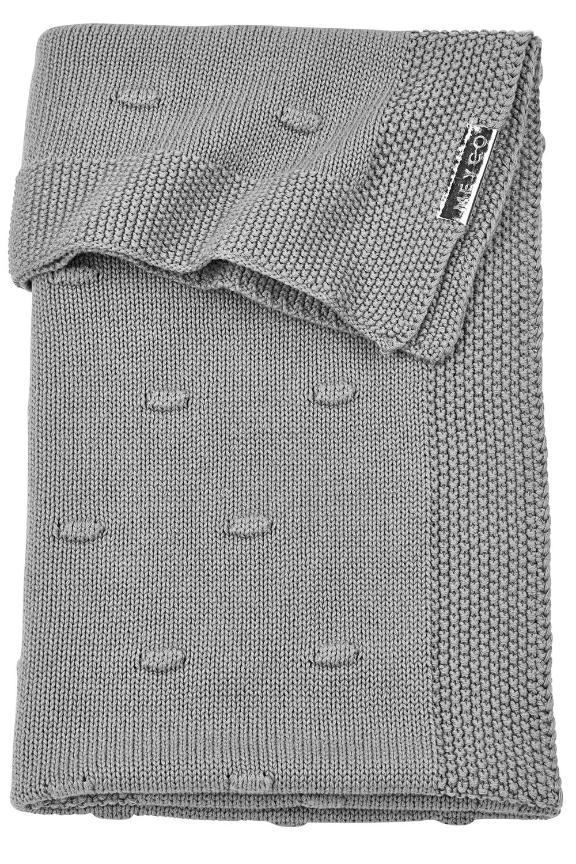 Babydecke groß Knots - Grau - 100x150cm
